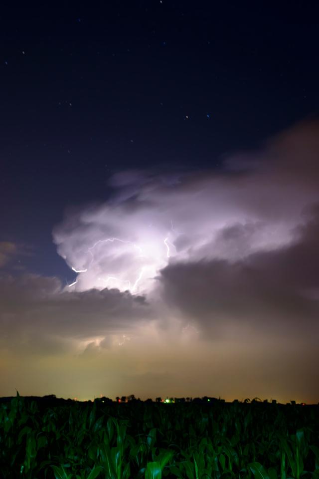 Iowa, clouds, lightning, storm, landscape, nature
