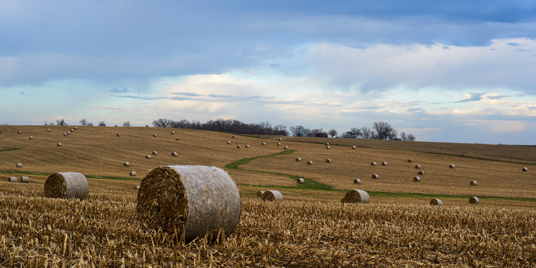 "iowa, bales, corn, field, landscape, photography, nature, ""round bales"","