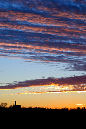 "iowa, sunset, ""mount vernon"", ""king chapel"", evening, clouds, color"