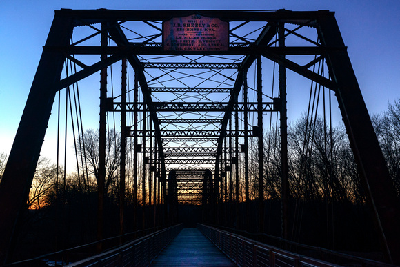 Sutliff Bridge at Dusk